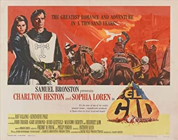 Amazon.com: El Cid Poster Movie 30x40 Charlton Heston Sophia Loren ...