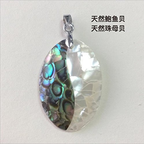 usongs 925 sterling silver natural sea abalone shell mosaic oval mother pearl necklace pendant handmade accessories personality