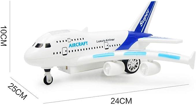 JERFER Air Bus 747 Telecomando Aeroplano Elettrico Telecomando Aereo Giocattolo per Bambini