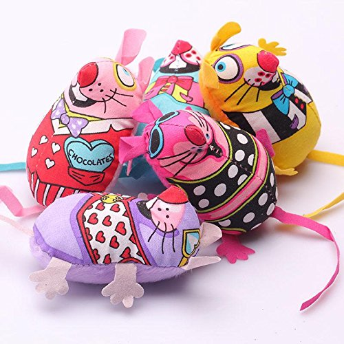Gold Happy Pet Product Fat Cat Toy Fat Canvas Colorful Mouse with Cat Mint Catnip Funny Brinquedos para Gato Mouse