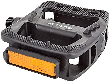 Sunlite Pedals Platform Nylon 9//16 Blk Strap Compatible