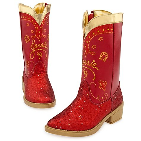Disney Store Toy Story 3 Red Sparkle Jessie Boots Size -