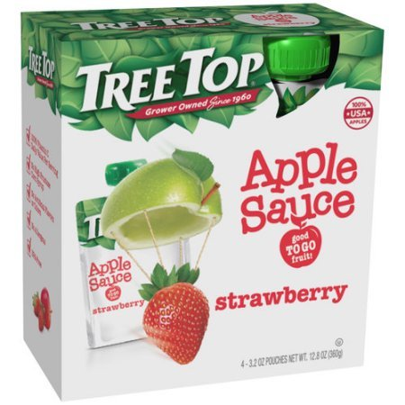 Tree Top Strawberry Apple Sauce (Pack of 16) by Tree Top (Image #1)
