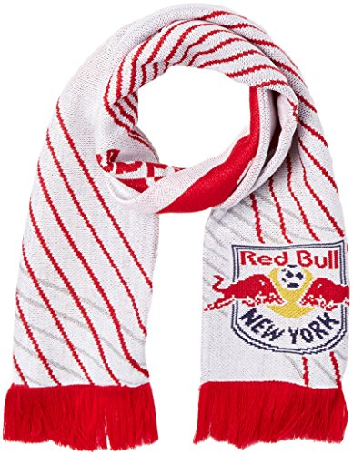- MLS New York Bulls Adult 1st Kick Jersey Hook Jacquard Scarf, One Size, Red