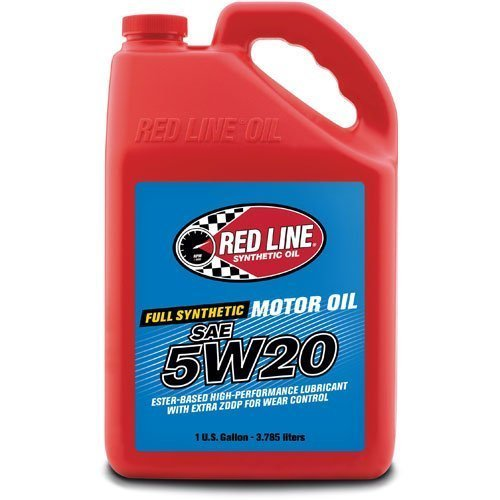 Red Line 15205-4PK 5W20 Motor Oil, 1 gallon, 4 Pack by Red Line Oil