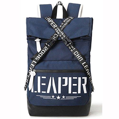 Casual Moda Bolso De Hombro Mochila Para Portátil School Bag Daypack,SapphireBlue DarkBlue
