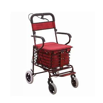 Carro de Arranque Plegable Carro de Ancianos para el hogar carros de Compras Plegables con un