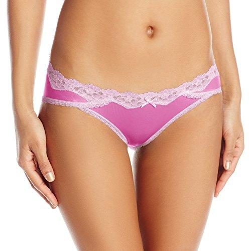 Maidenform Women's Sexy Must Haves Bikini Panty, Fuchsia Feathers Lilac Petal, X-Large/8