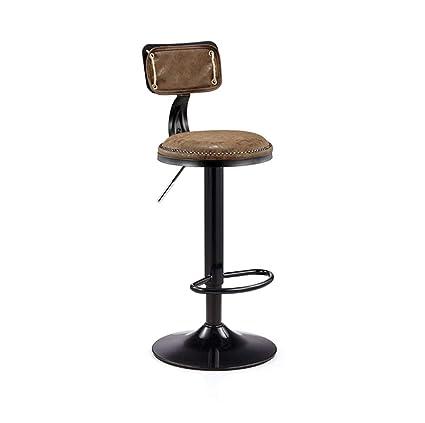 Surprising Amazon Com Calyvina Retro Style Adjustable Swivel Bar Stool Frankydiablos Diy Chair Ideas Frankydiabloscom