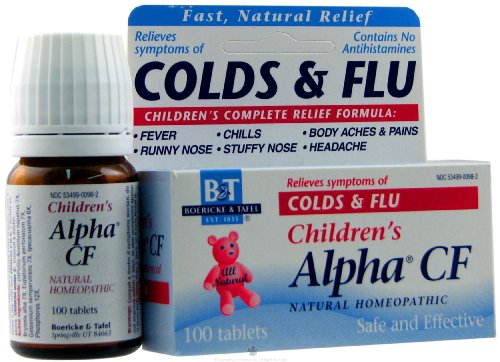 Boericke and Tafel Alpha CF Colds and Flu - 120 Tablets, 8 pack