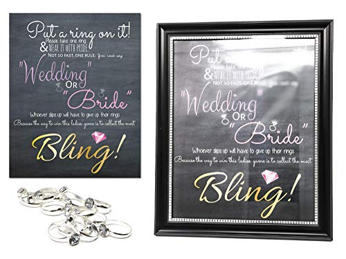 Photo Guide Ring Set - Put a Ring on it Bridal Shower Game Set, Wedding Entertainment Games, Wedding Showers, Bride Games Kit, Bachelorette Games, Engagement Party Decorations, Bride To Be Party Decor