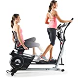 2-in-1 Double Elliptical and Recumbent Bike, Black