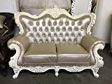 """Gorgeous Metalic Carved Living Room Sofa - Solid Wood - 61"""""""