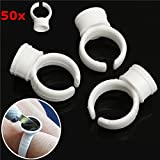 Vivona Hardware & Accessories 50pcs White Pigment Holder Ring Glue Rings Ink Holders