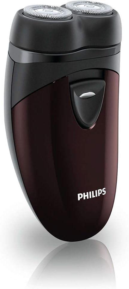 Philips Afeitadora Eléctrica PQ206/18 Color Negro, De Viaje, 2xAA, Plástico