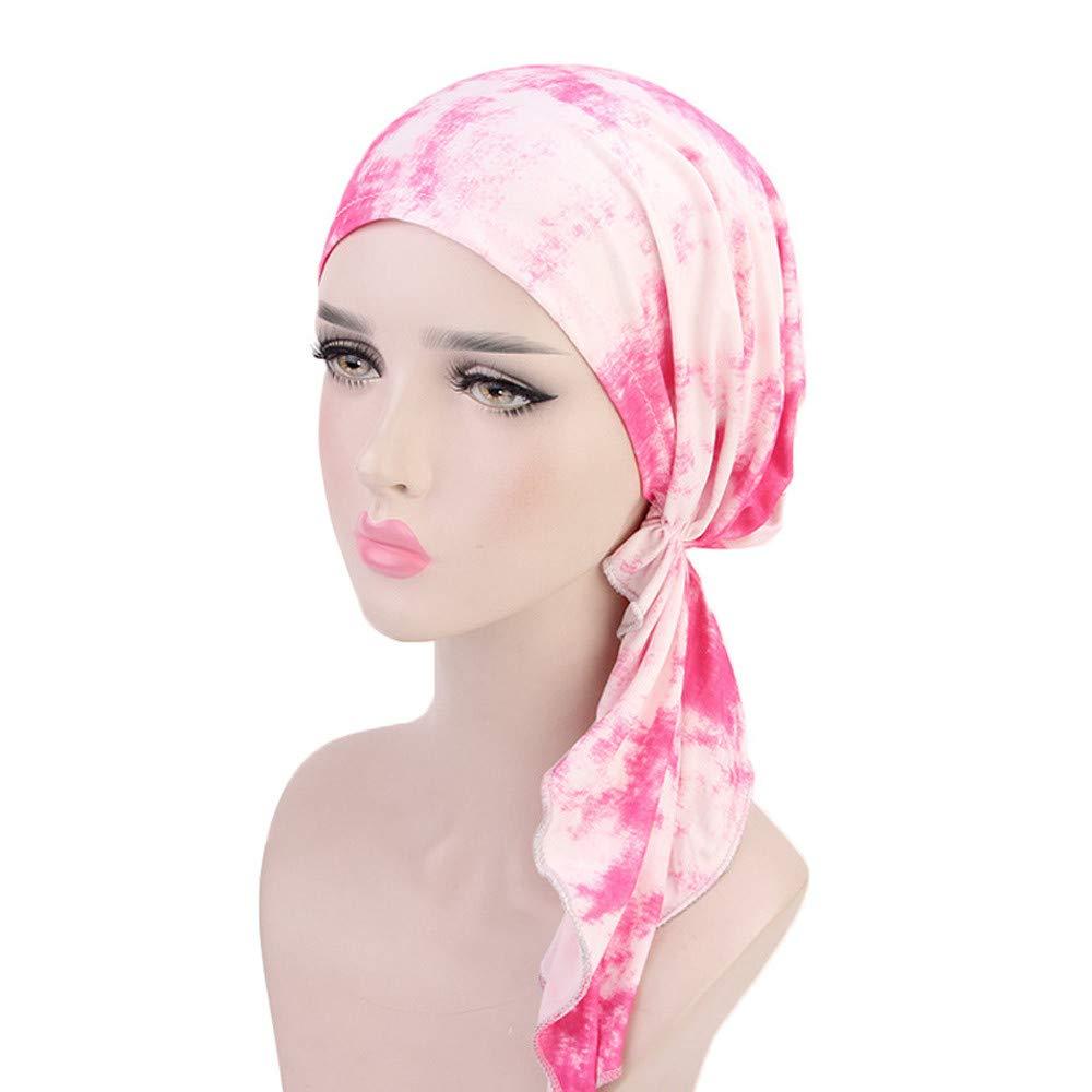 Corbata Te/ñida Sombrero Pa/ñuelo Bufanda Musulmana Sombrero para C/àncer Chemo Oncol/ógico P/èrdida de Pelo Cabello Dwevkeful Turbantes para Mujer Cancer