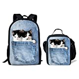 Cozeyat Children School Book Bags 3D Cute Cat Dog Printing Designer Backpack (Set-9) Review