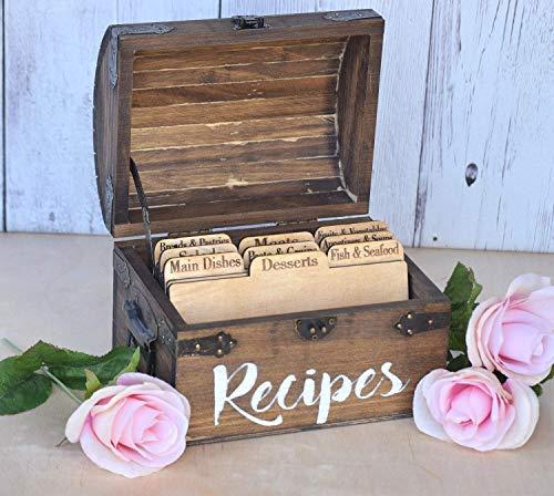 Recipe Cards - Wooden Recipe Cards - Recipe Card Dividers - Wood Recipe Cards - Recipe Box Dividers - Recipe Dividers - Rustic Kitchen -