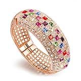 NINABOX® Valentine's Gifts Mutilcolored SWAROVSKI ELEMENTS Crystal Bangle Bracelets Fashion Jewelry