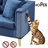 4 Pcs Cat Scratch Protector,Flexible Transparent Cat Scratch Guards No Pins,Protecting Furniture from Cat Scratching Stops Scratching Cats Furniture Defender,18.5 x 5.9″