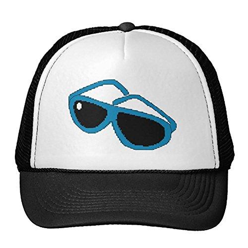 Smity 106 Pixel Art Blue Sunglasses Trucker - Pixel Art Sunglasses