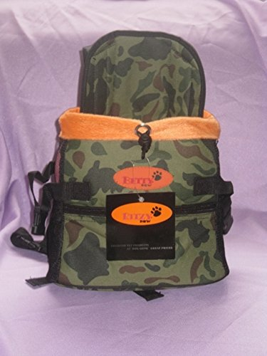 Dog Carrier Front Pack for Dogs Comfortable Front Carrier, Small, Camouflage (Dog Camouflage Carrier)