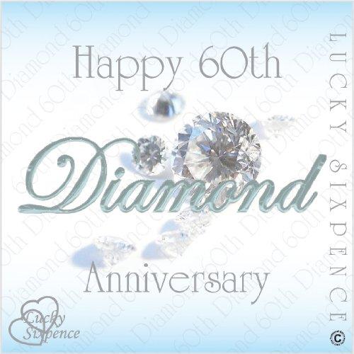 LUCKY SIXPENCE 60TH DIAMOND WEDDING ANNIVERSARY GIFT