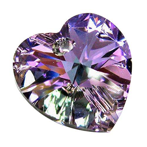1 pc Swarovski Xilion Crystal 6228 Heart Charm Pendant Vitrail Light 18mm / Findings / Crystallized Element - 18mm 1 Charm