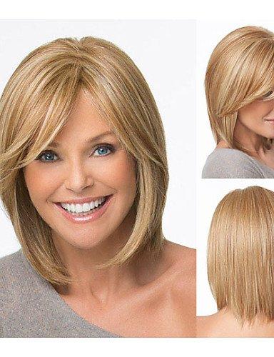 WIGSTYLE Pelucas de la manera cortes de pelo bob pelucas sintéticas cortas pelucas rubias rectas para