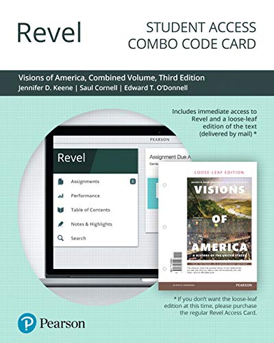 Revel for Visions of America: A History of the United States, Combined Volume -- Combo Access Card (3rd Edition)