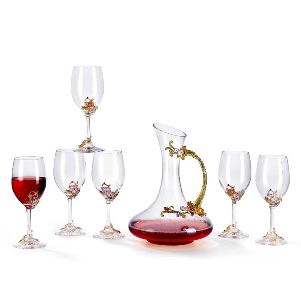 Lead free crystal wine decanter-creative wine carafe,Wine accessorie Decanter for wedding Anniversary Christmas New year-A