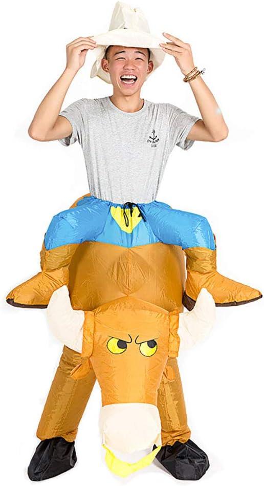 Cosplay Disfraz Toro Inflable Jinete Animal Lujoso Gracioso Mono ...