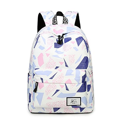 Amazon.com: Joymoze Fashion Leisure Backpack for Girls Teenage School Backpack Women Print Backpack Purse Beige: Computers & Accessories