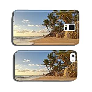 Beautiful morning over tropical beach in Punta Cana, Dominican Republic cell phone cover case Samsung S6