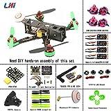 LHI 220mm Quadcopter Kit Full Carbon Frame +DX2205 2300KV Brushless Motor Littlebee 20A Mini ESC+ F3 6DOF FC + 5045 Propeller 3-4s ARF Kit Beginner Practice