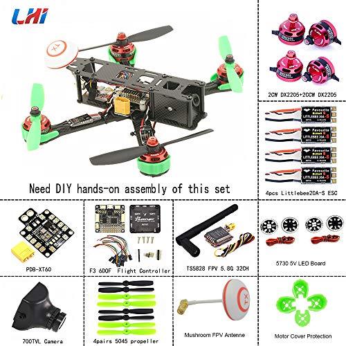 LHI-220mm-Quadcopter-Kit-Full-Carbon-Frame-DX2205-2300KV-Brushless-Motor-Littlebee-20A-Mini-ESC-F3-6DOF-FC-5045-Propeller-3-4s-ARF-Kit-Beginner-Practice