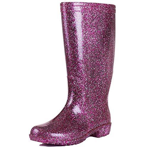 Pink Women's Onlineshoe Wellie Festival Wellington Boots Rain TYT7qrd