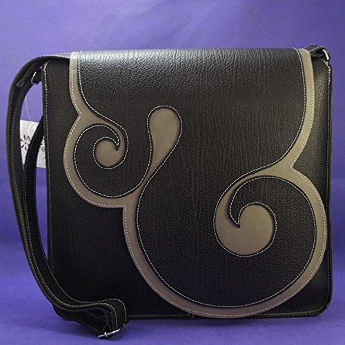 Bolso de piel de bandolera marrón. Bolso de cuero de artesanía. BSE