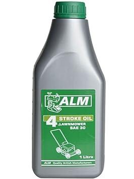 4 tiempos ALM aceite 1 Litro SA30 para cortacésped OL204: Amazon.es: Jardín