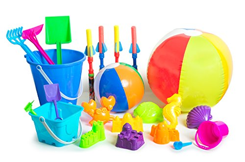 Beach Kids Toy Set for fun at the Beach, Sand Box, and Water Tables ,24 piece set color may vary