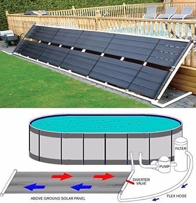 "New MTN-G 24"" x 20' Inground / Above Ground Pool Solar Panel Pool Heater 40 Sq Ft 2' x 20'"