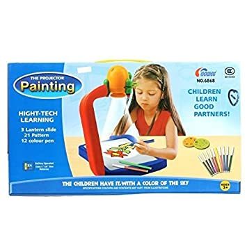 and retails children kids projector painting drawing activity kit - Children Painting Images