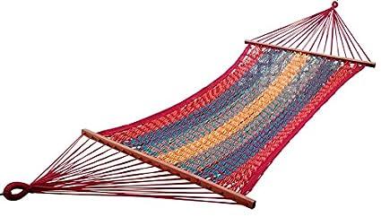 Hangit Mexican Brazilian Multi-color Cotton Rope Hammock swing