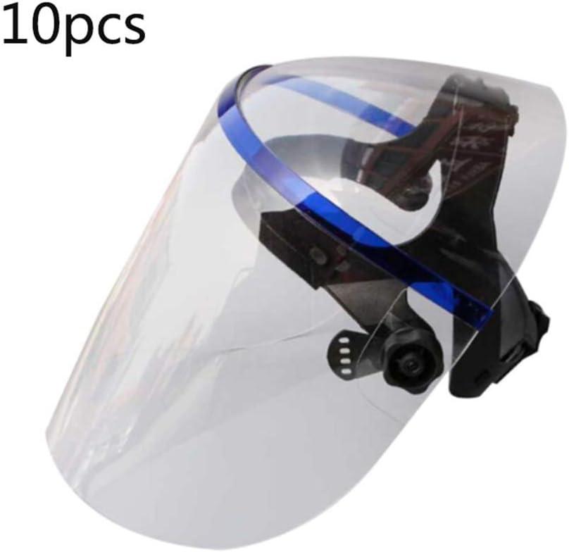 Einstellbarer Anti-Fog-Glas-Gesichtsschutz,2pcs Spritzwassergesch/ützter Hochtemperatur-W/ärmed/ämm-Vollgesichtsschutz Schutzglas-Gesichtsschutz