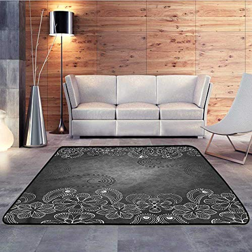 Rugs,Floral,Classical Victorian SwirlsW 63
