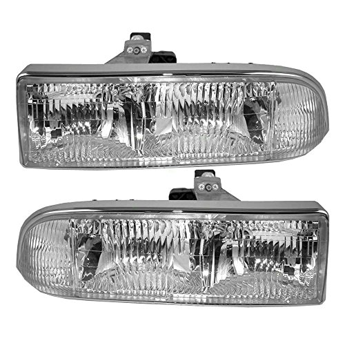 Driver and Passenger Headlights Headlamps Replacement for Chevrolet Pickup Truck SUV 16526217 16526218 (2003 Chevrolet Truck)