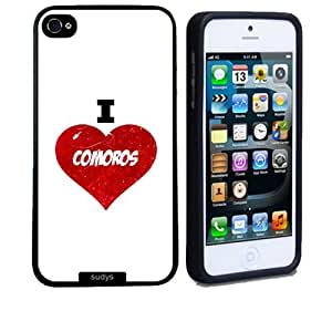 SudysAccessories I Love Heart Comoros Thinshell Case Protective iPhone 5 Case iPhone 5S Case