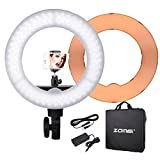 ZOMEI ZM-18-inch-light--stand Camera Photo/Video Outer 240 Pieces LED SMD Ring Light 5500K Dimmable Ring Video Light With Plastic Color Filter Set, 55W
