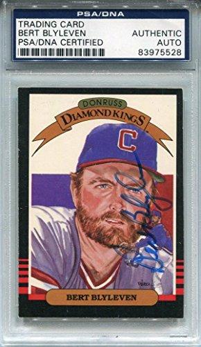 Card Donruss 1985 Autographed (Bert Blyleven Autographed 1985 Donruss Card (PSA) - Baseball Slabbed Autographed Cards)