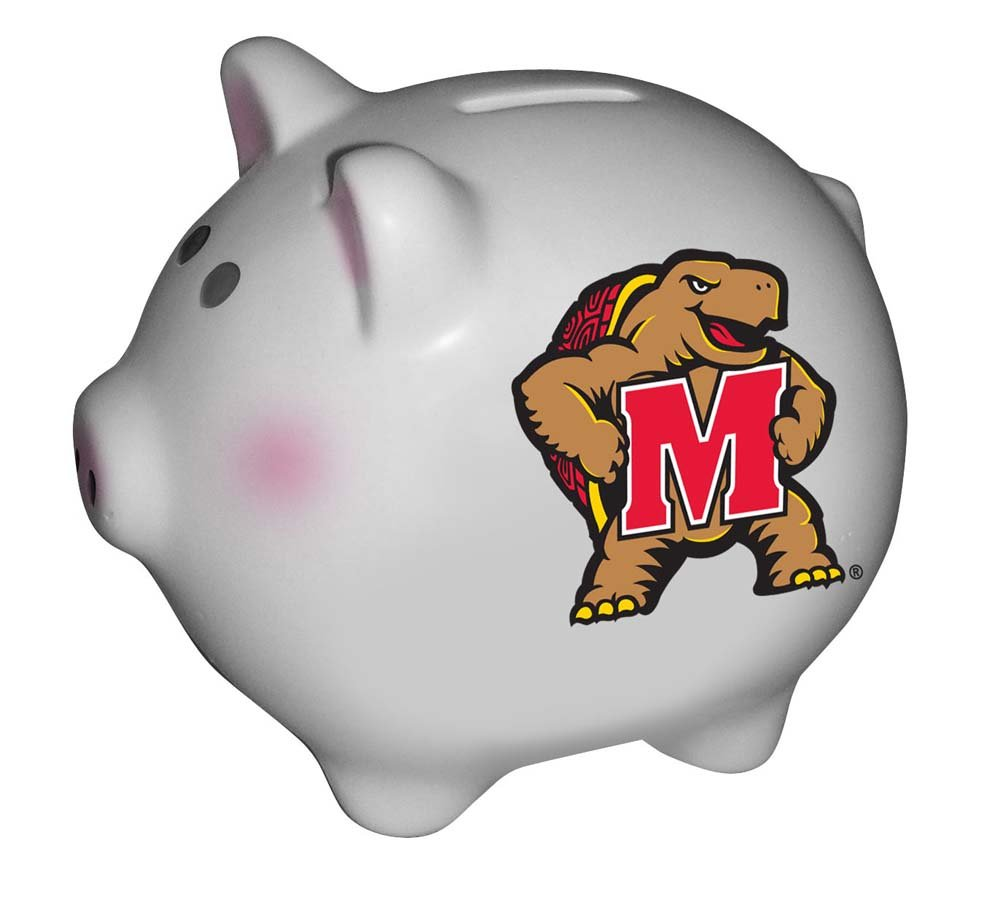 Multicolor The Memory Company NCAA University of Maryland Official Team Piggy Bank One Size